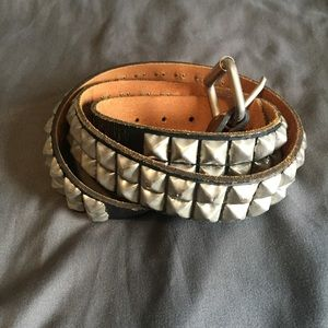 Accessories - Studded 2 Row Punk Belt